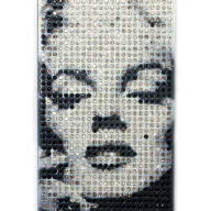 Чехол для Apple iPhone 5/5s стразы Fashion Rhinestone Bling Diamond Crystal фото Marilyn Monroe