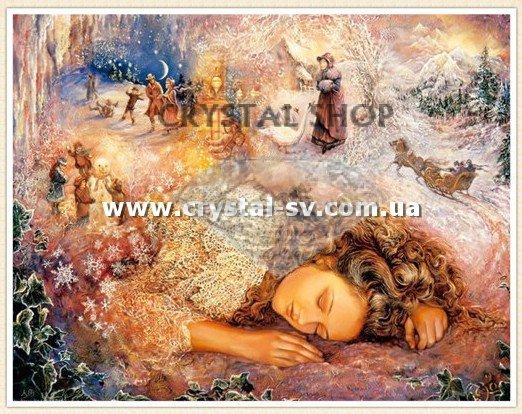 девушка Зимний сон (40x50)