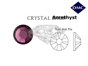 Стразы DMC non Hot Fix Amethyst ss6 (2 мм).
