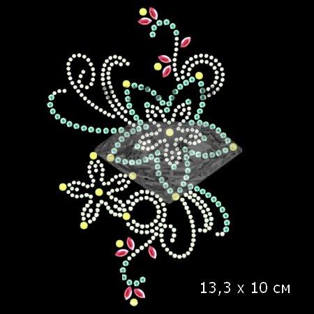 Термонаклейки цветы на одежду