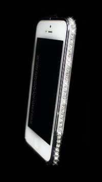 Бампер для iphone 4/4s Deluxe Crystal Diamond SILVER №1