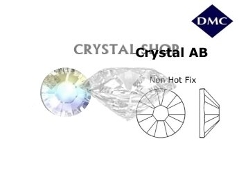 кристалл шоп Стразы DMC non Hot Fix Crystal AB ss16 (4мм). Цена за 100шт.