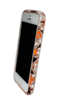 Бампер для iphone 5/5s Diamond LUXURY national style ORANGE