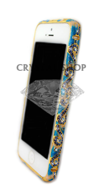 Бампер для iphone 5/5s со стразами Diamond LUXURY Ceramica national style UKRAINE