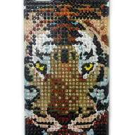 Чехол для Apple iPhone 5/5s стразы Fashion Rhinestone Bling Diamond TIGER