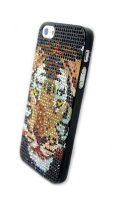 Чехол для Apple iPhone 5/5s стразы Fashion Rhinestone Bling Diamond TIGER фото 2 — CRYSTAL SHOP