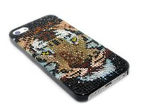Чехол для Apple iPhone 5/5s стразы Fashion Rhinestone Bling Diamond TIGER фото 4 — CRYSTAL SHOP