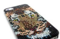 Чехол для Apple iPhone 5/5s стразы Fashion Rhinestone Bling Diamond TIGER фото 3 — CRYSTAL SHOP
