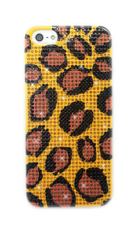 Чехол для Apple iPhone 5/5s с кристаллами стразы Fashion картина из страз Rhinestone Bling Diamond LEOPARD