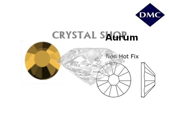 Стразы DMC non Hot Fix Aurum ss3 (1,3 мм) фото 1 — CRYSTAL SHOP