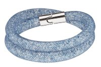 Браслет Сваровски Stardust Blush Blue Double Bracelet (S: 38 cm)