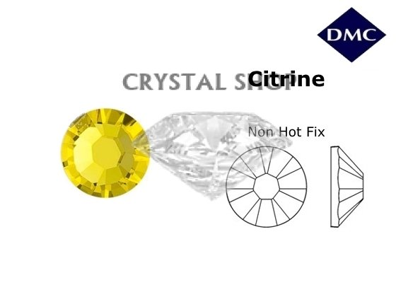купить камни DMC non Hot Fix Citrine ss4 (1,6 мм) фото 1 — CRYSTAL SHOP