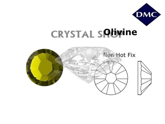 Стразы DMC non Hot Fix Olivine ss4 (1,6 мм) фото 1 — CRYSTAL SHOP