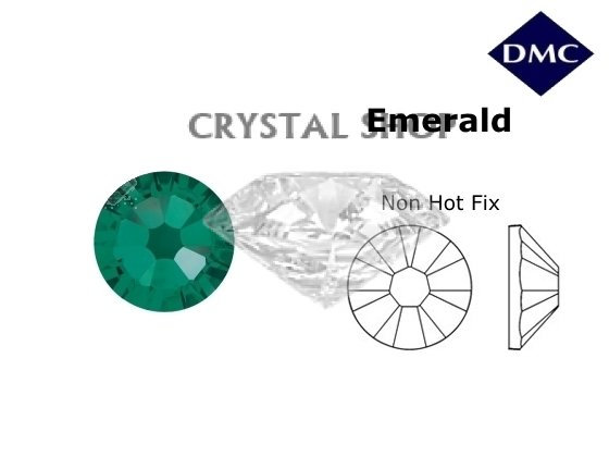 Стразы DMC non Hot Fix Emerald ss4 (1,6 мм) фото 1 — CRYSTAL SHOP