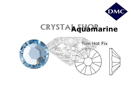 Стразы DMC non Hot Fix Aquamarine ss4 (1,6 мм) фото 1 — CRYSTAL SHOP