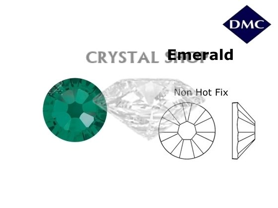 Стразы DMC non Hot Fix Emerald ss5 (1.8 мм) фото 1 — CRYSTAL SHOP