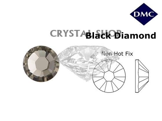 Стразы DMC non Hot Fix Black diamond ss12 (3-3.2 мм). фото 1 — CRYSTAL SHOP