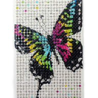 Чехол для Apple iPhone 5/5s стразами Fashion Diamond Crystal картинки из страз Butterfly