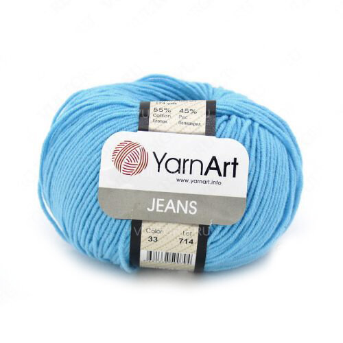 YarnArt Jeans (ЯрнАрт Джинс) цвет 33 фото 1 — CRYSTAL SHOP