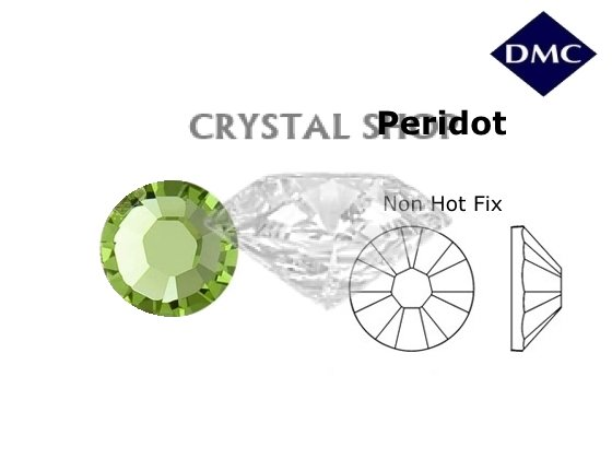 Стразы DMC non Hot Fix Peridot ss10 (2.7-2.8 мм). фото 1 — CRYSTAL SHOP