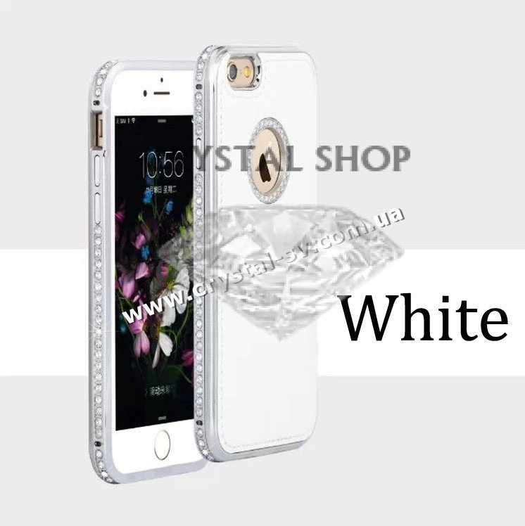 купить бампер для iphone 5 Crystal Luxe White фото 1 — CRYSTAL SHOP