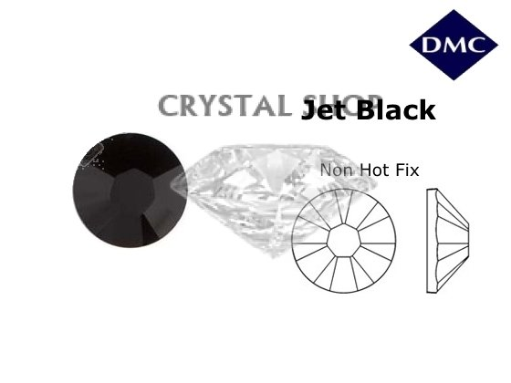 Стразы DMC non Hot Fix Jet ss8 (2.3-2.5 мм) фото 1 — CRYSTAL SHOP