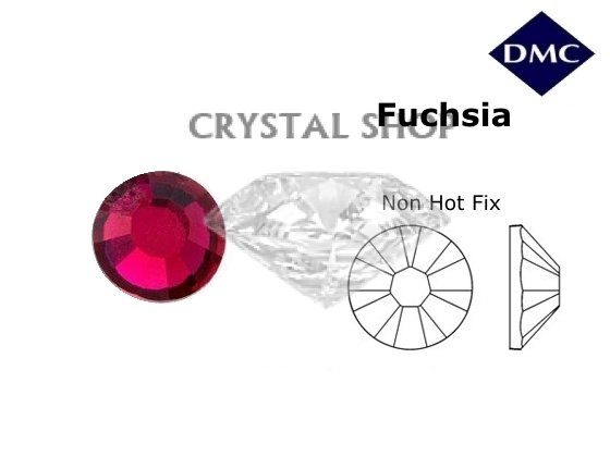 Стразы DMC non Hot Fix Fuchsia ss6 (2 мм). фото 1 — CRYSTAL SHOP