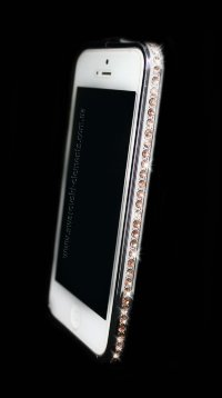 Бампер для iphone 4/4s Deluxe Crystal Diamond SILVER №2