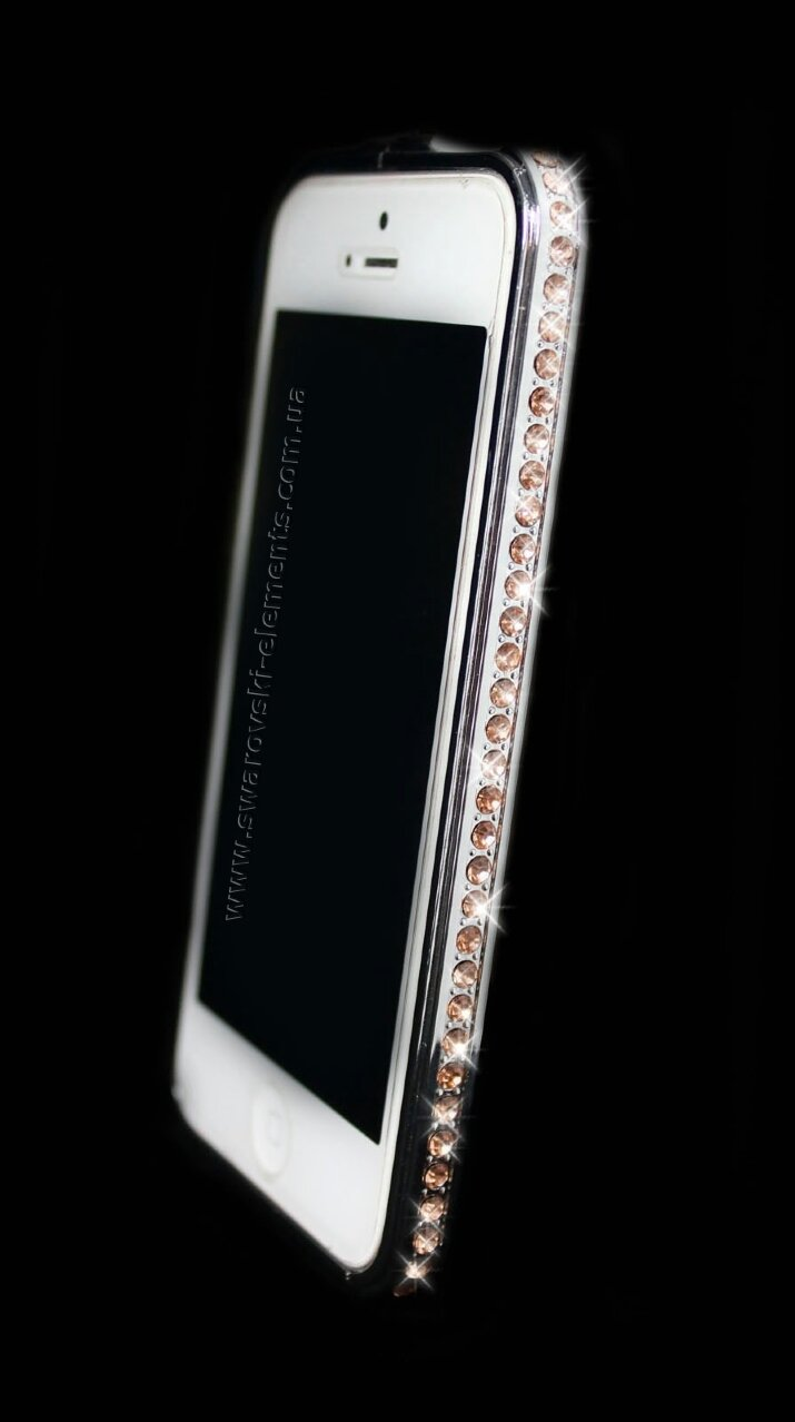 Бампер для iphone 5/5s Deluxe Crystal Diamond SILVER №2