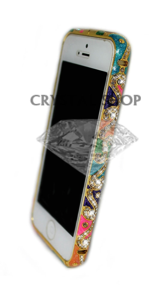 Бампер для iphone 5/5s Diamond LUXURY national style PINK фото 1 — CRYSTAL SHOP