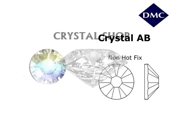 кристалл шоп Стразы DMC non Hot Fix Crystal AB ss3 (1,3 мм) фото 1 — CRYSTAL SHOP