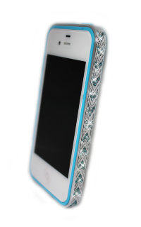 Бампер алюминиевый для iphone 5/5s Luxury Ultra-thin Diamond Strass BLUE