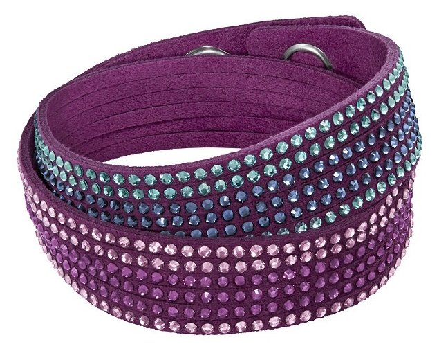 Браслет Сваровски Slake Fuchsia 2 in 1 Bracelet (36 cm) фото 1 — CRYSTAL SHOP