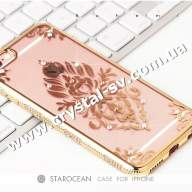 Чехол iphone 6 6s Силикон Secret Garden Flower GOLD