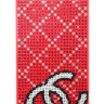 Чехол для Apple iPhone 5/5s стразами Rhinestone Bling Diamond CHANEL logo RED фото 1 — CRYSTAL SHOP