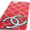 Чехол для Apple iPhone 5/5s стразами Rhinestone Bling Diamond CHANEL logo RED фото 4 — CRYSTAL SHOP