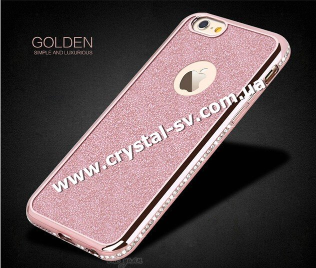 Чехол iphone 6 6s Силикон GOLDEN sumple and Luxurious ROSE GOLD фото 1 — CRYSTAL SHOP