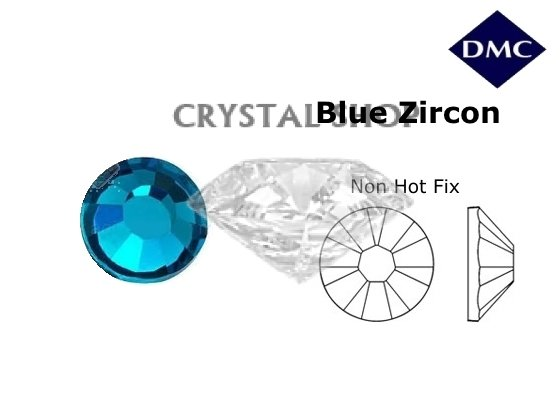 Стразы DMC non Hot Fix Blue Zircon ss16 (4мм). Цена за 100шт. фото 1 — CRYSTAL SHOP