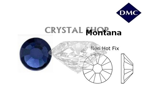 Стразы DMC non Hot Fix Montana ss16 (4мм). Цена за 100шт. фото 1 — CRYSTAL SHOP