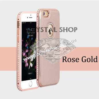 Чехол iphone 6 6s PU Crystal Luxe Rose Gold