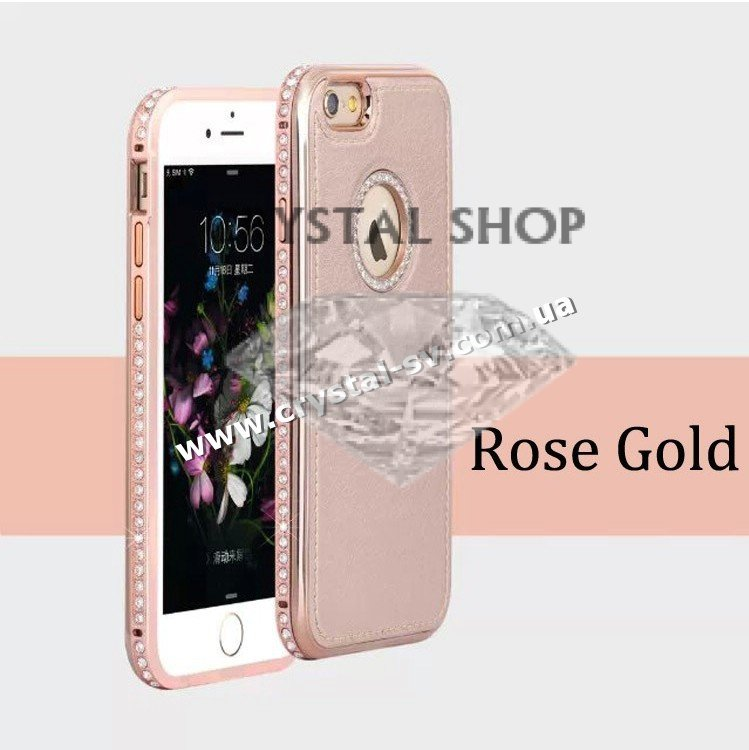 Чехол iphone 6 6s PU Crystal Luxe Rose Gold фото 1 — CRYSTAL SHOP