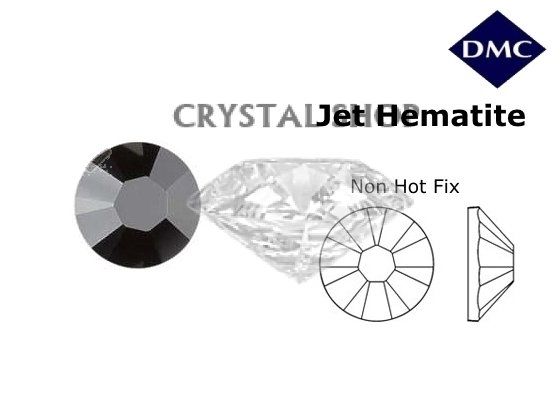 Стразы DMC non Hot Fix Jet Hematite ss3 (1,3 мм) фото 1 — CRYSTAL SHOP