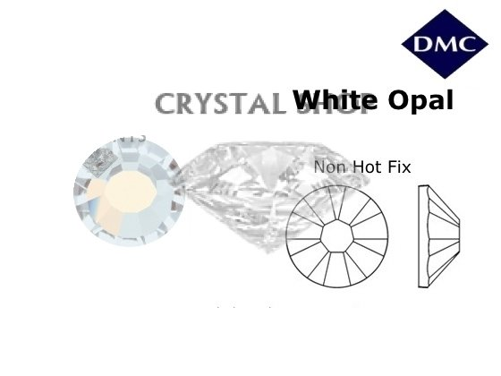 Стразы DMC non Hot Fix White Opal ss12 (3-3.2 мм). фото 1 — CRYSTAL SHOP